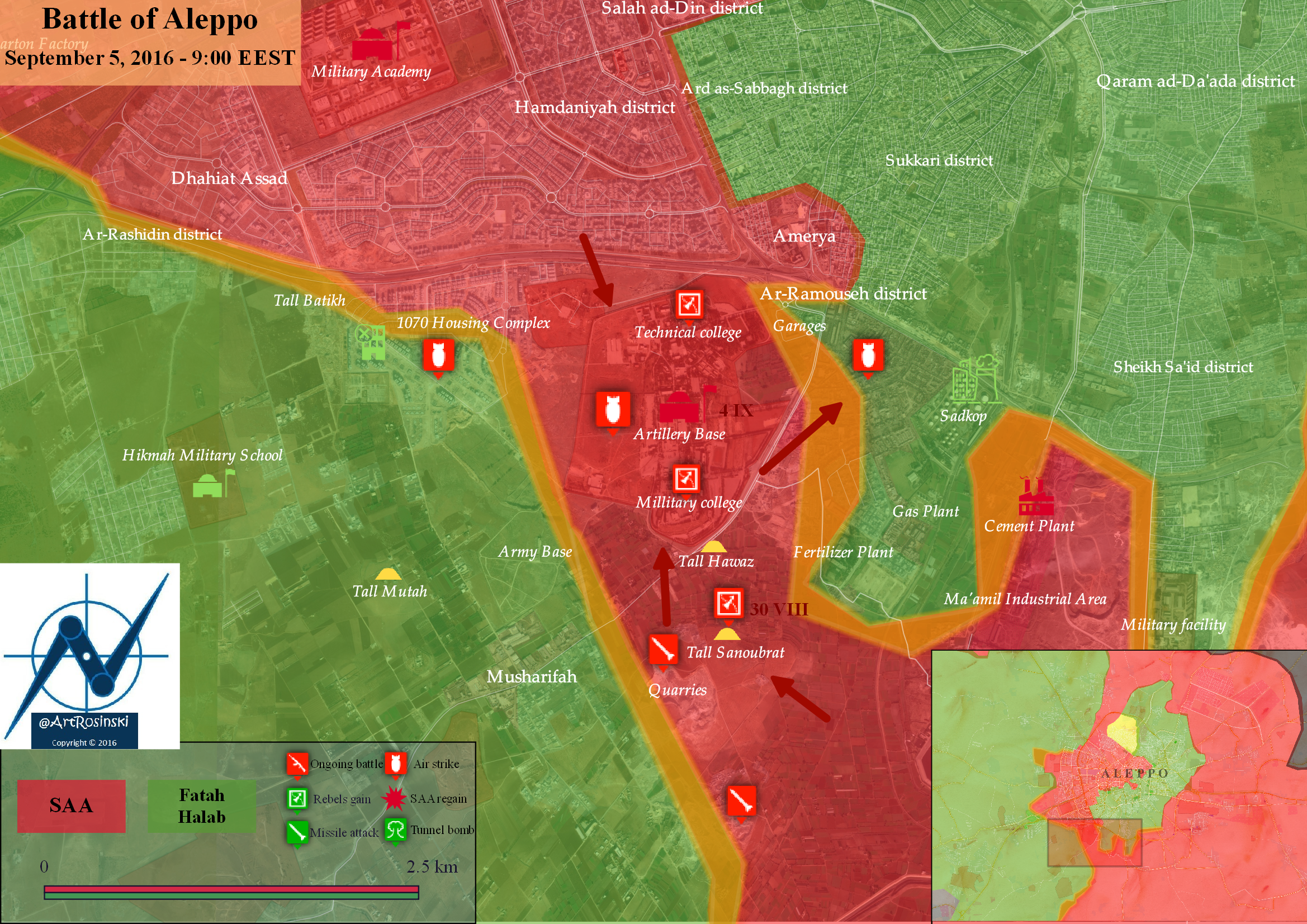 Battle of Aleppo (September 5, 2016)