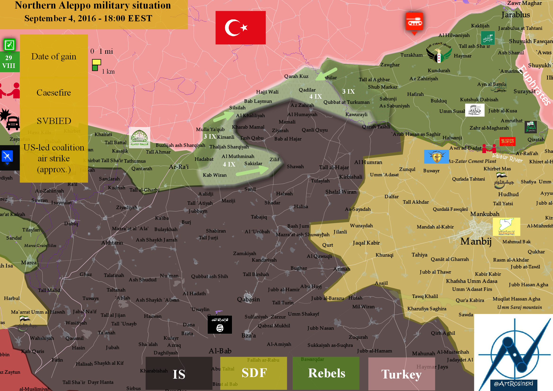Northern Aleppo military situation (September 4, 2016) EA