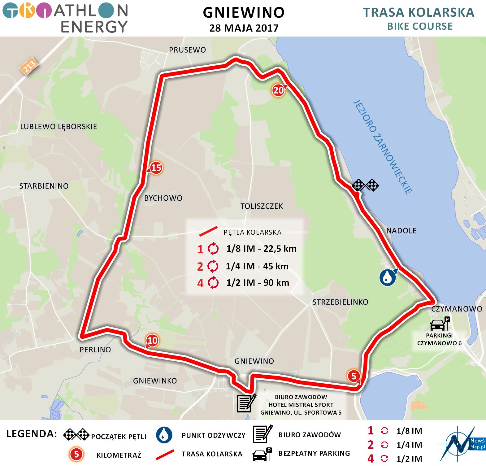 Gniewino - rower (on-line)