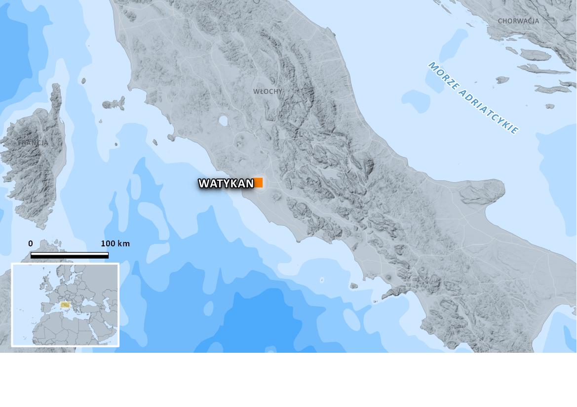 Watykan - mapa 2