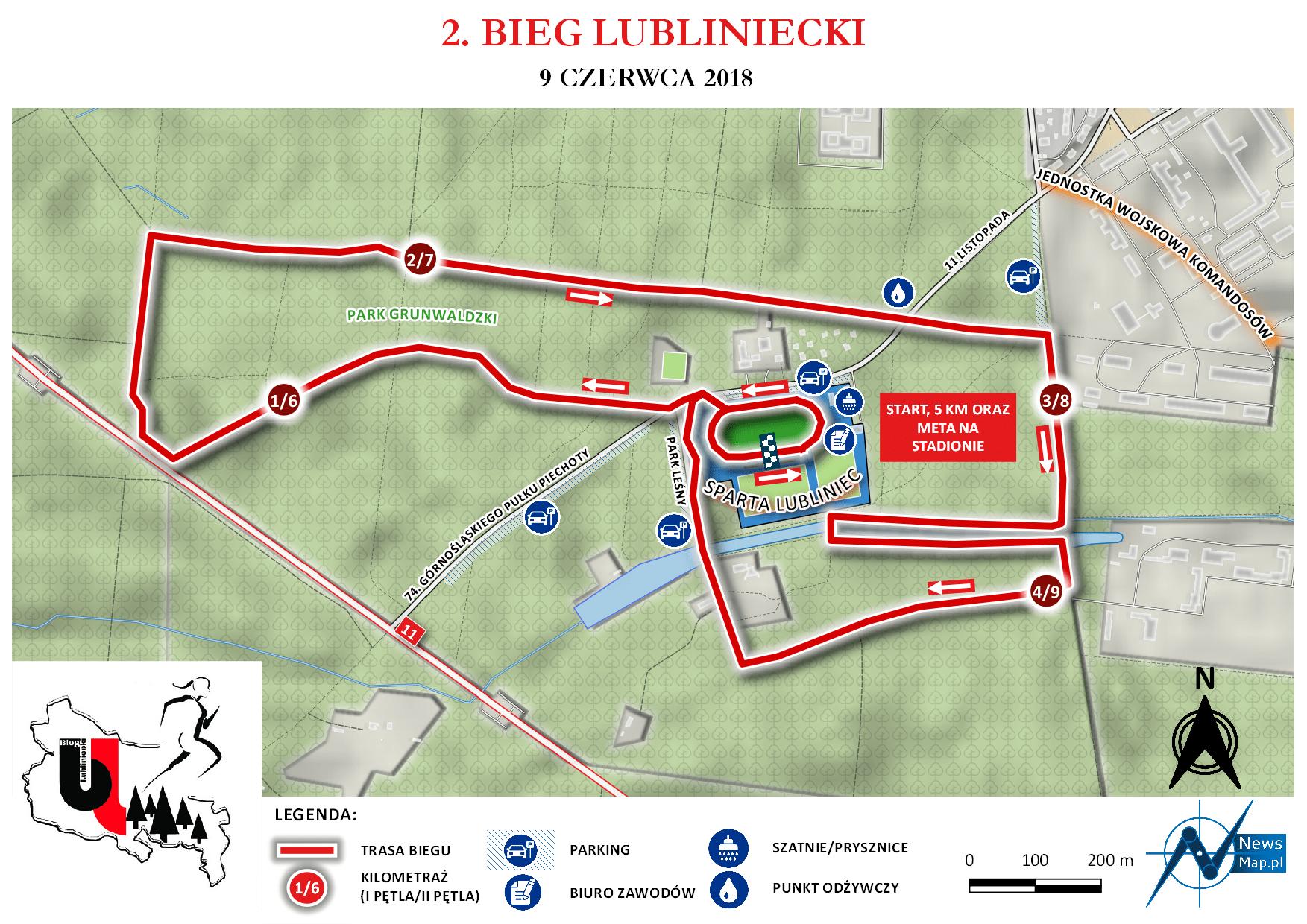 2. Bieg Lubliniecki - mapa statyczna on-line
