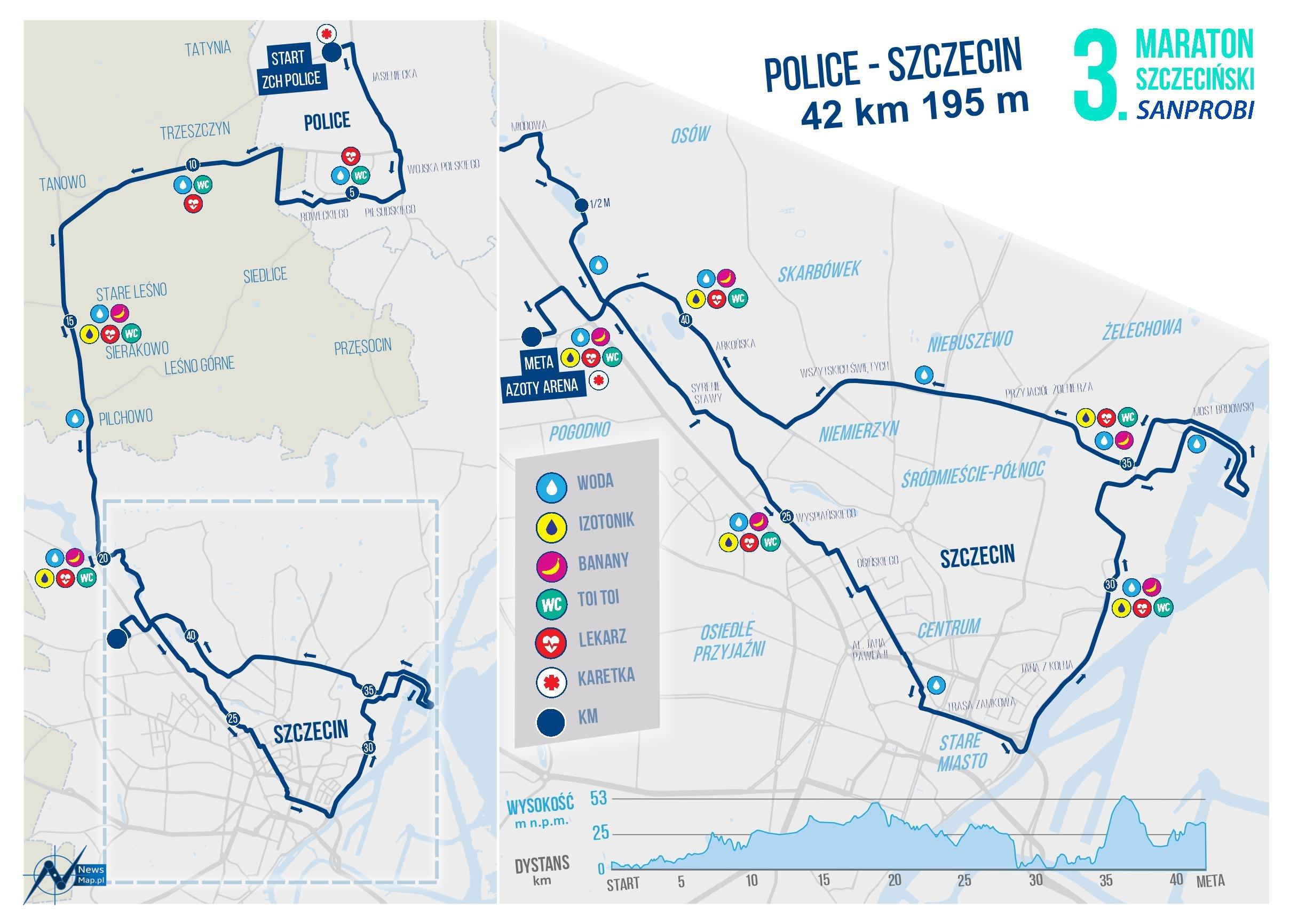 3. Maraton Szczeciński z profilem na mapie