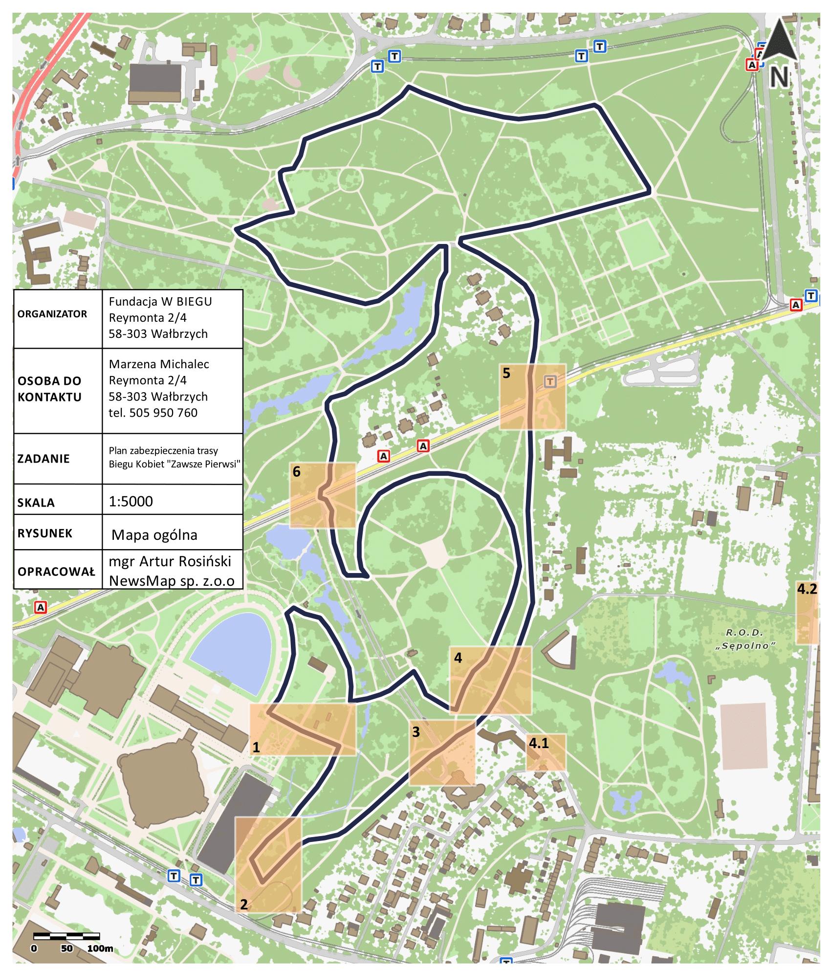 Bieg Kobiet Wrocław - plan organizacji ruchu
