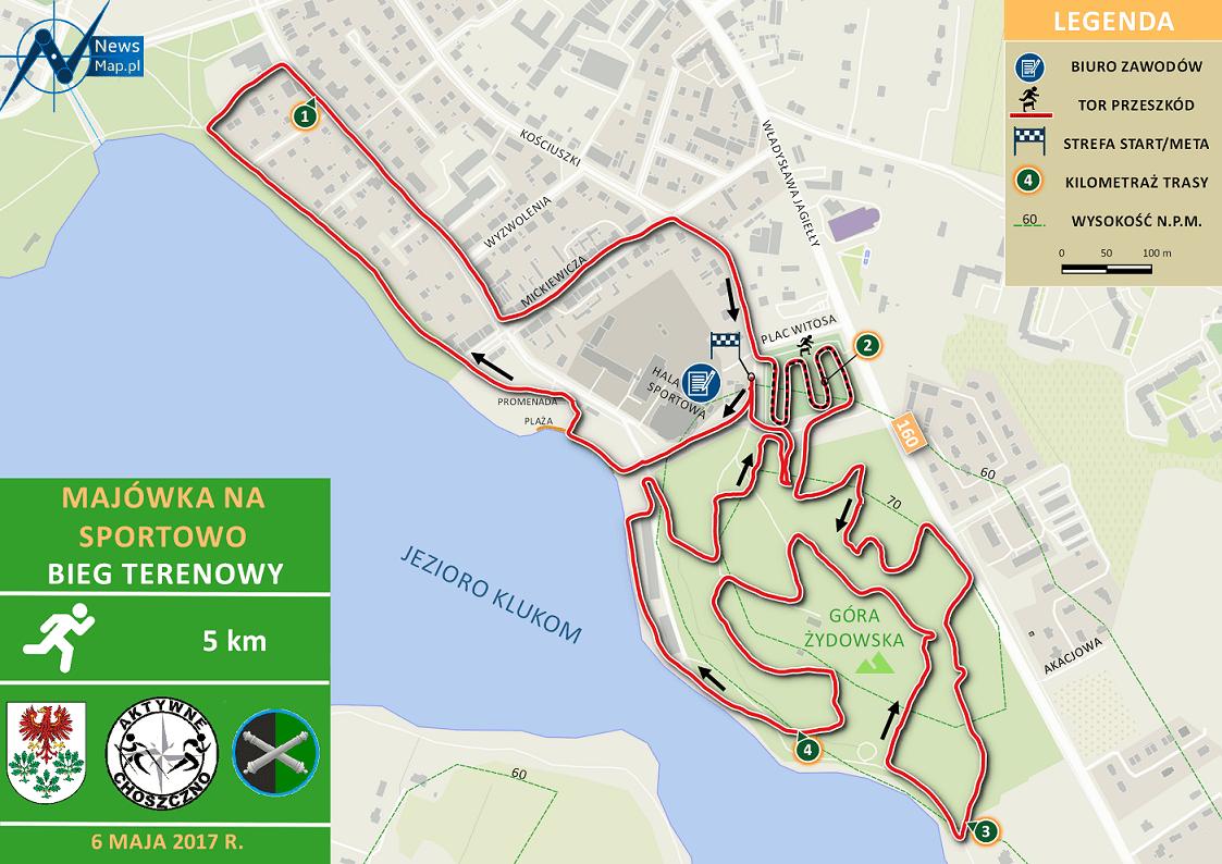 Bieg Terenowy - mapa