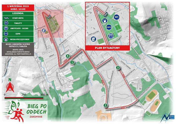 Bieg po Oddech 2019 - mapa statyczna on-line