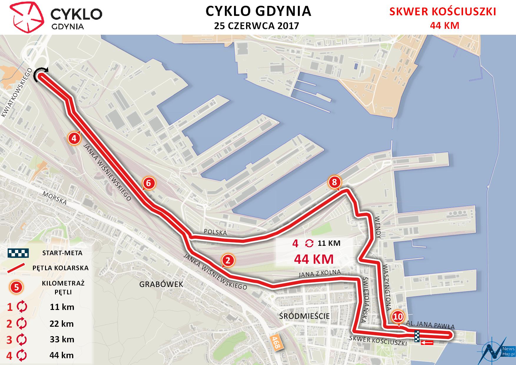 Cyklo Gdynia - mapa statyczna on-line