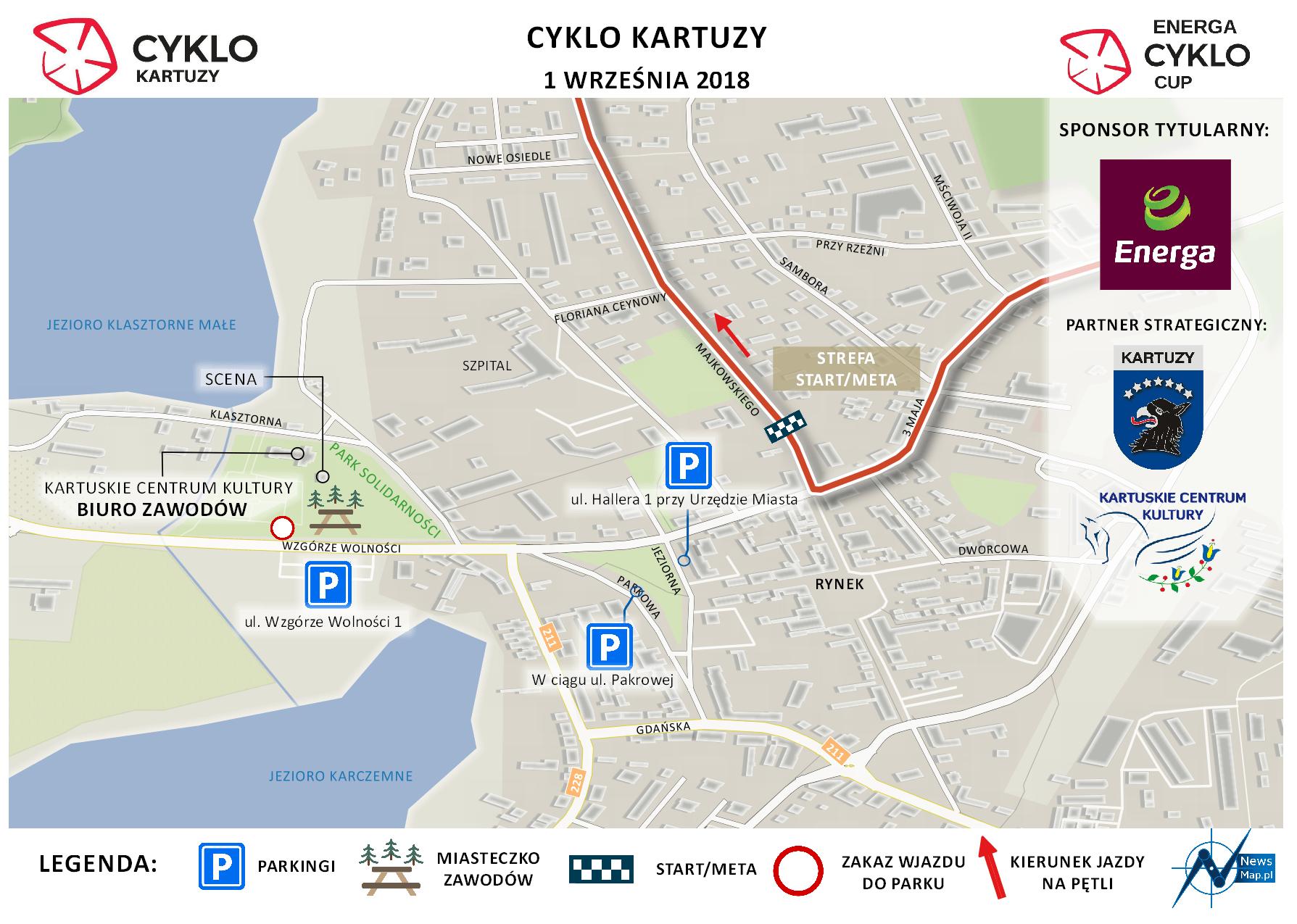 Cyklo Kartuzy 2018 - plan sytuacyjny (on-line)