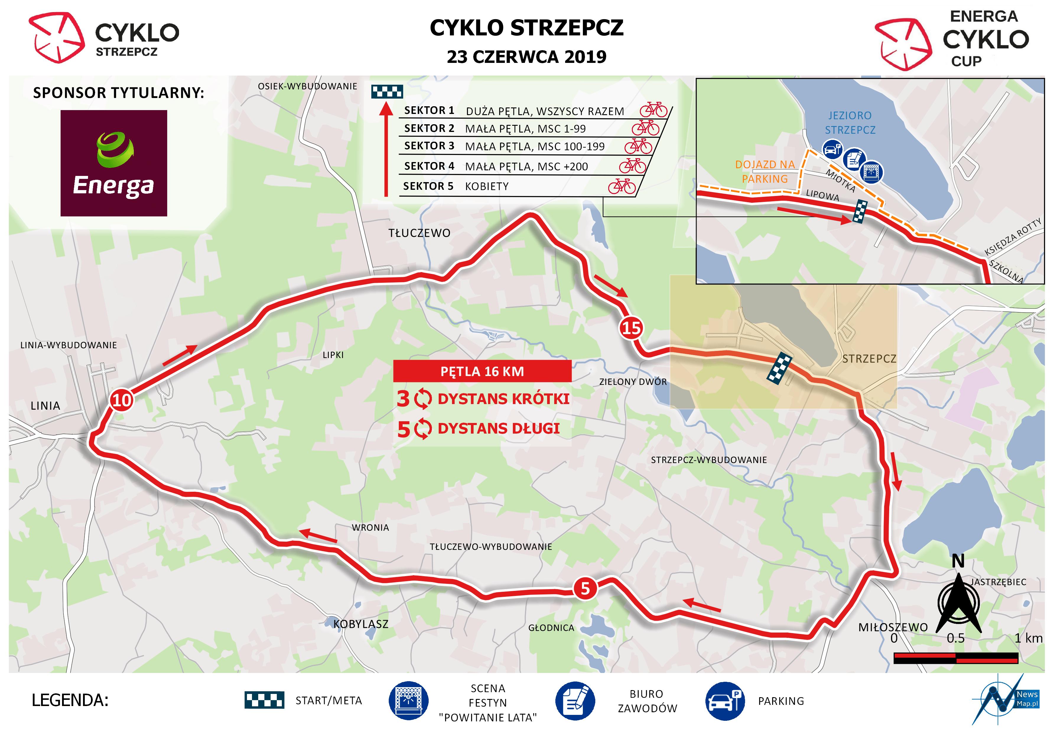 Cyklo Strzepcz 2019 - mapa statyczna