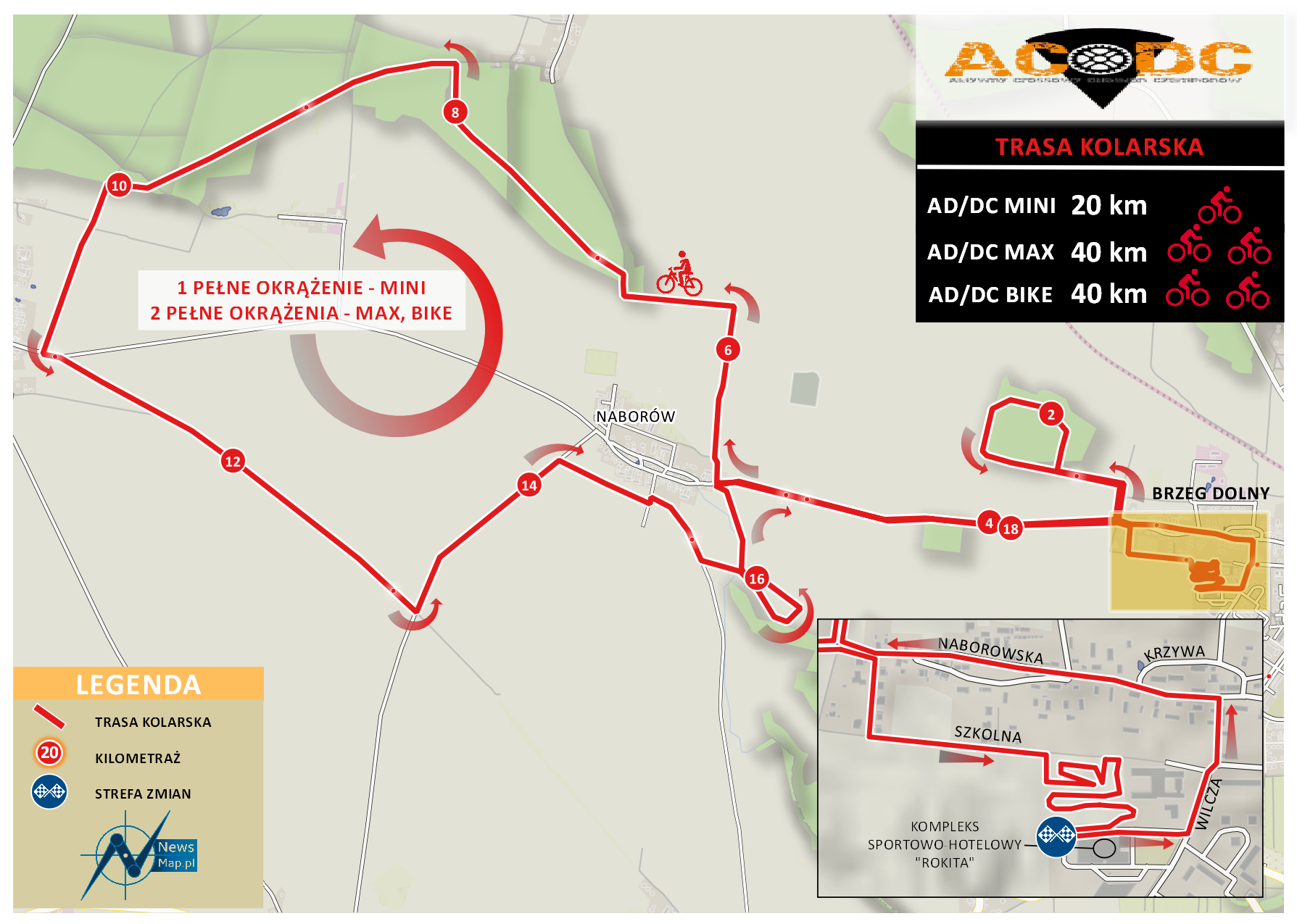 Duathlon AD;DC - trasa kolarska (mapa on-line)