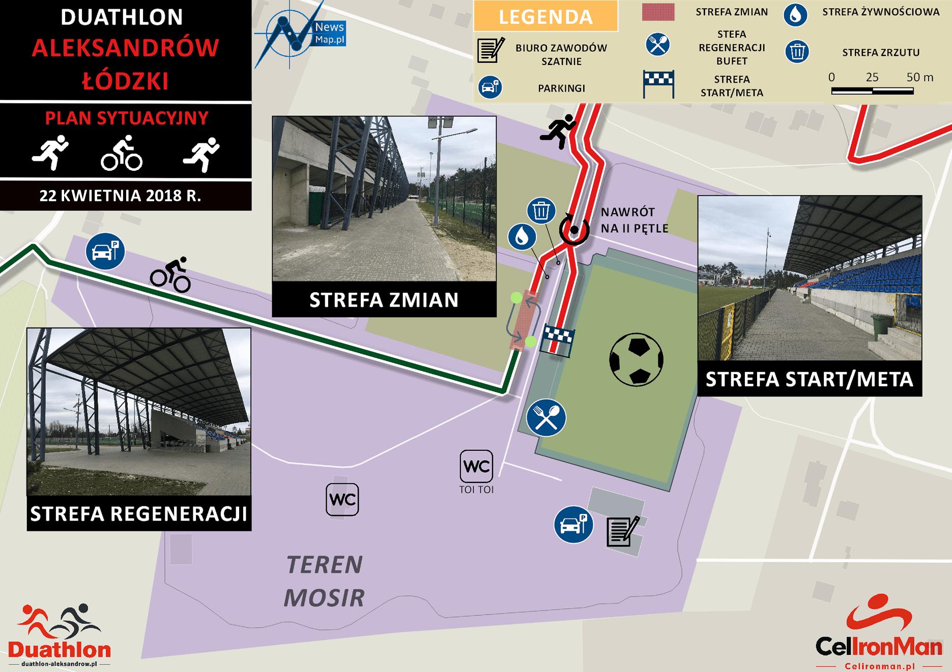 Duathlon Aleksandrów - plan sytuacyjny online
