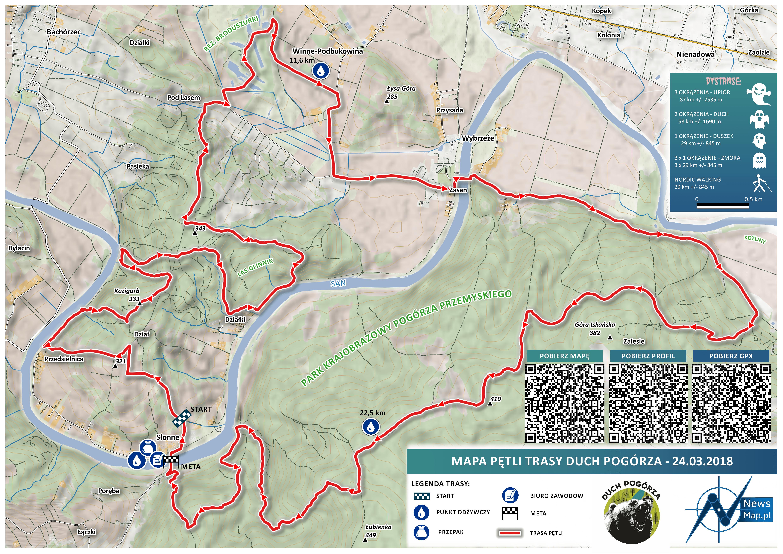 Duch Pogórza - mapa statyczna on-line na stronę internetową