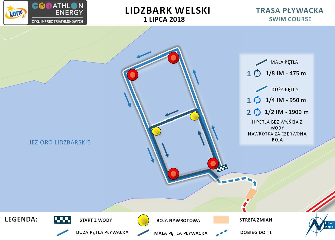 Lidzbark - pływanie (on-line) 2018