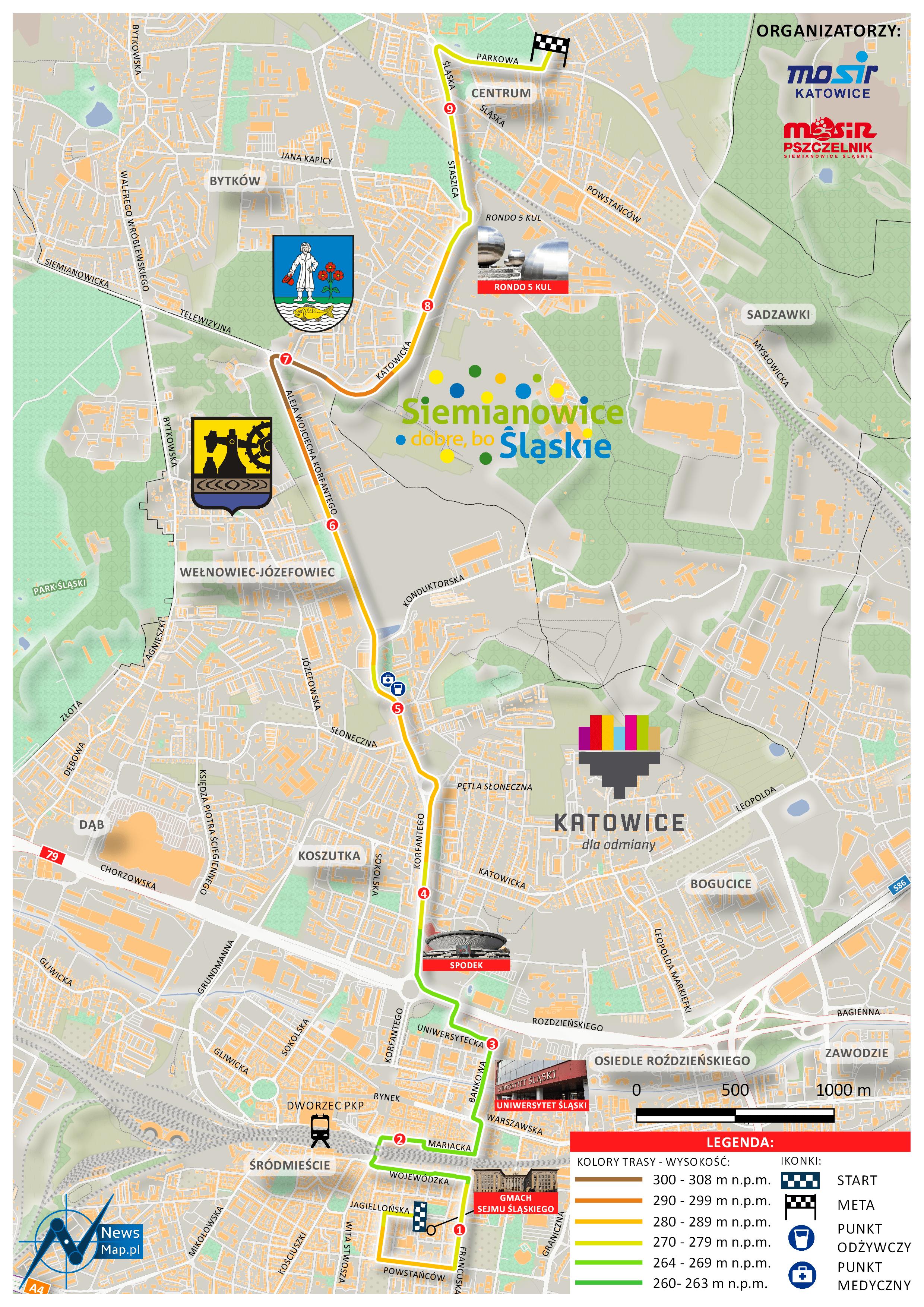 Mapa statyczna Bieg Korfantego (on-line)