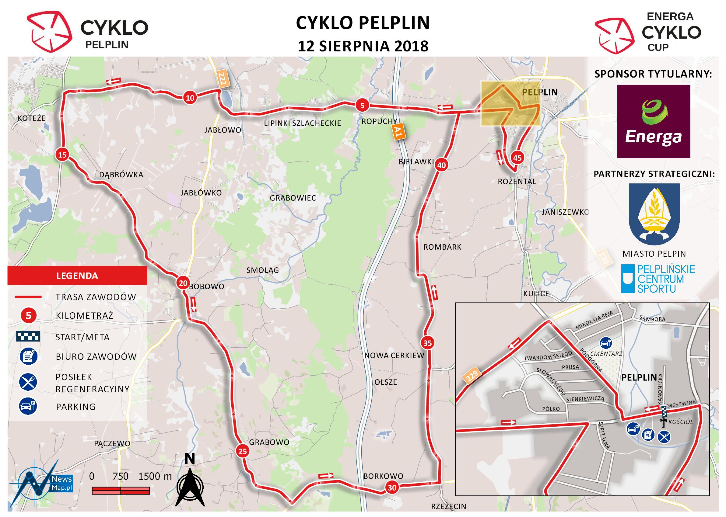Mapa statyczna Cyklo Pelplin (on-line)