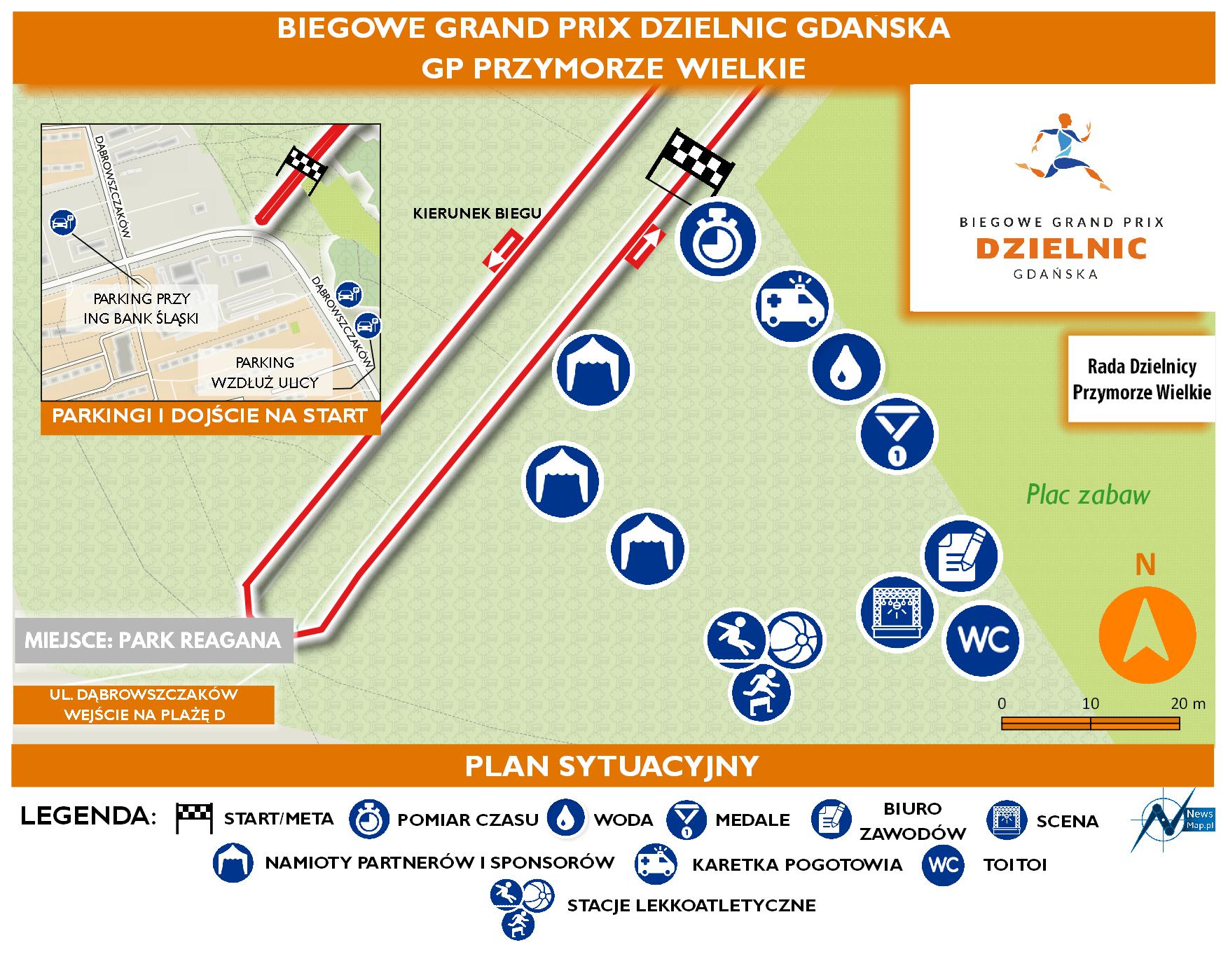Mapa statyczna GP Przymorze Wielkie - plan sytuacyjny (on-line)