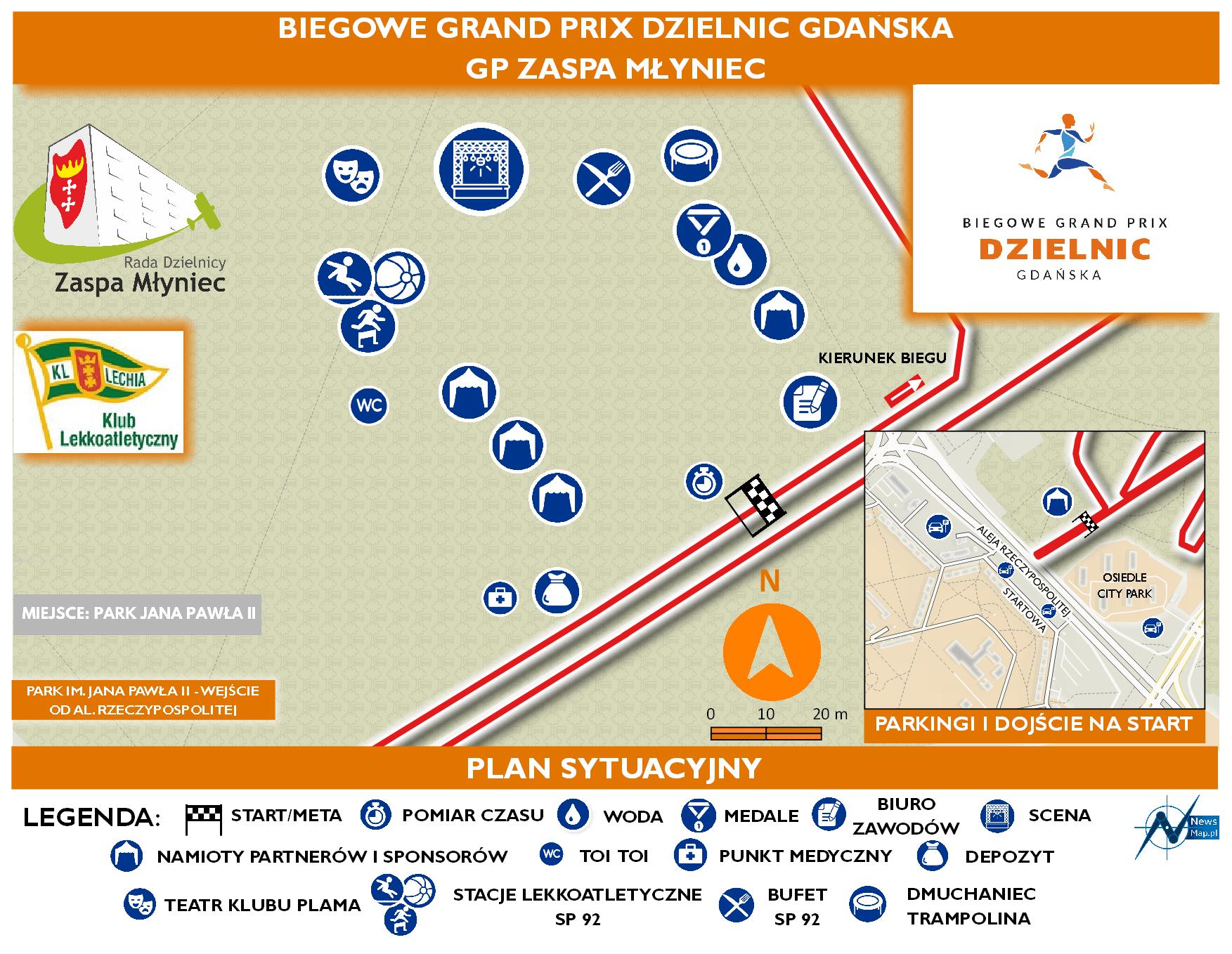 Mapa statyczna GP Zaspa Młyniec - plan sytuacyjny (on-line)