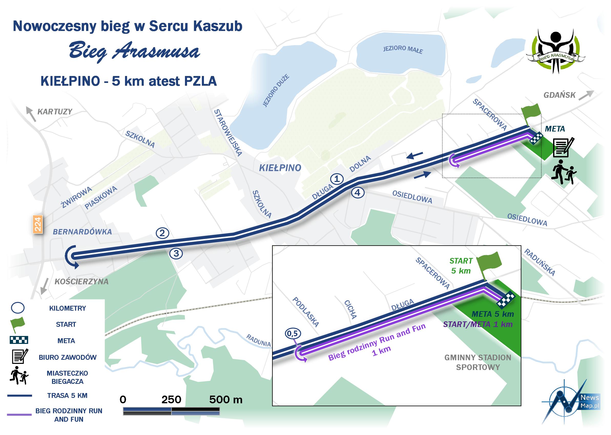 Mapa statyczna III Bieg Arasmusa (on-line) - wersja minimalistyczna