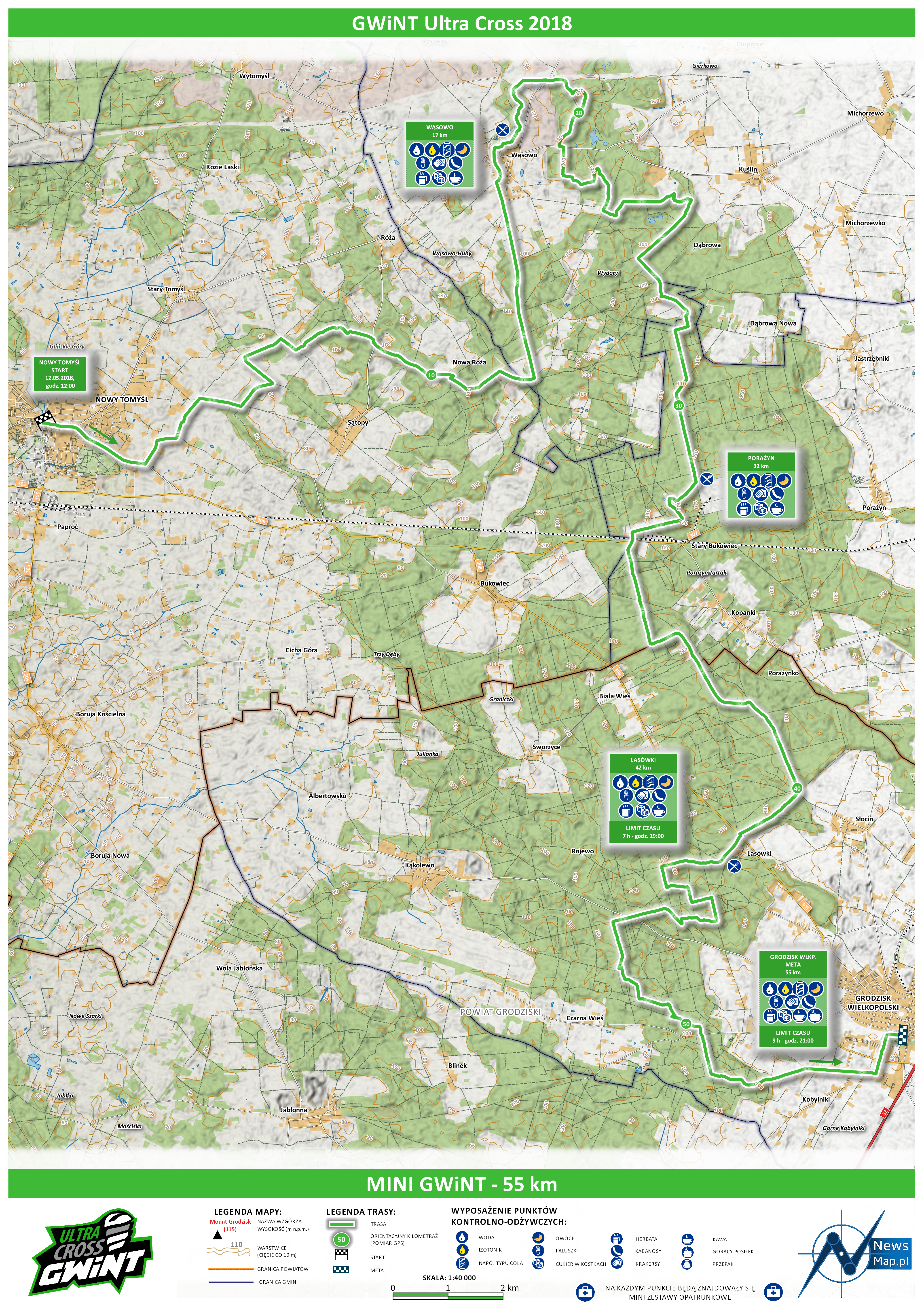 Mapa statyczna MINI GWiNT 2018