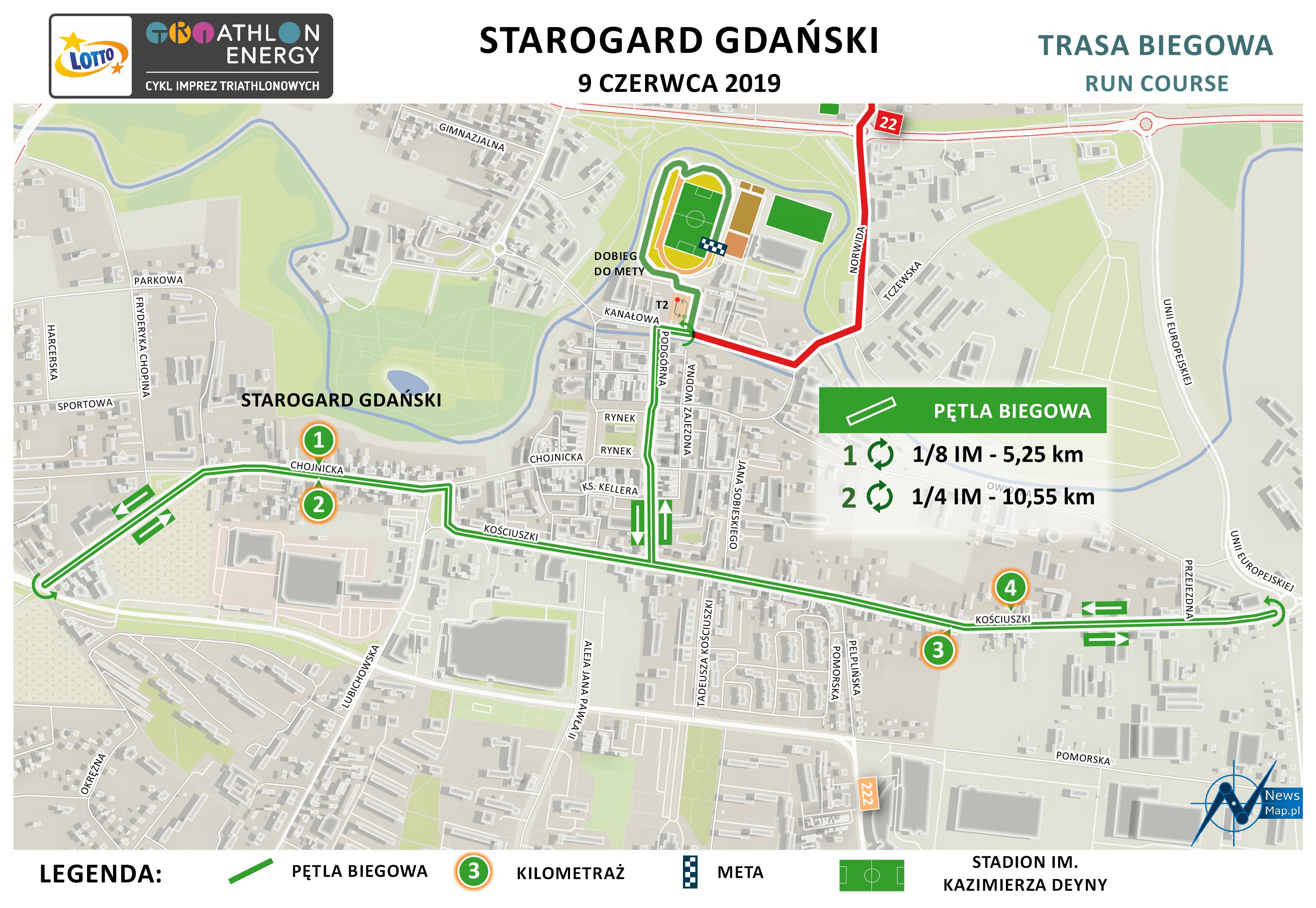 Mapa statyczna Starogard 2019 - bieg