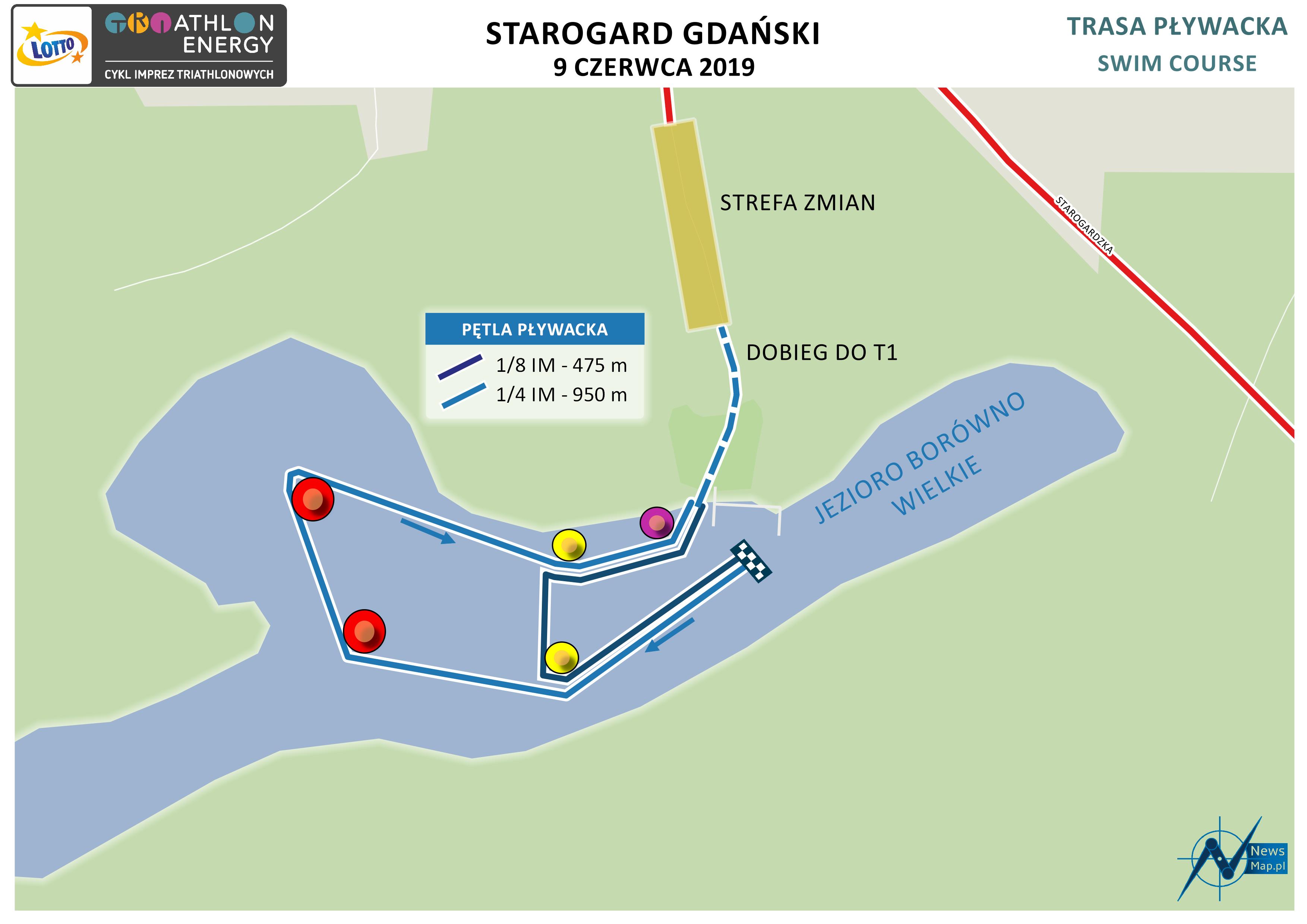 Mapa statyczna Starogard 2019 - pływanie