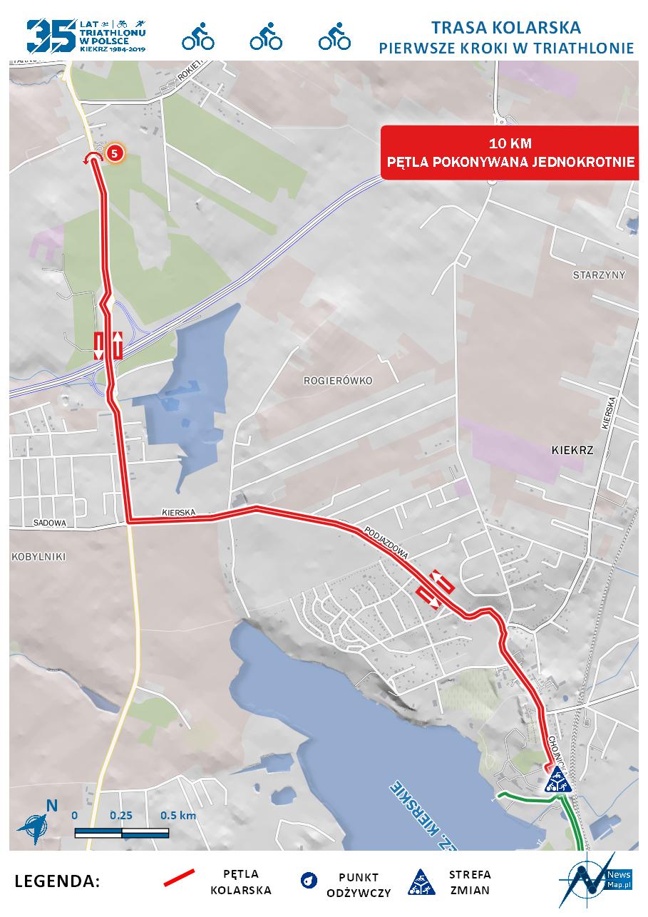 Mapa statyczna - rower dystans pierwsze kroki