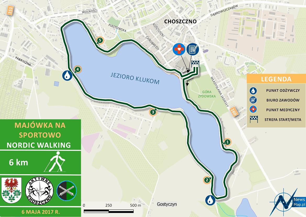 Nordic Walking - mapa