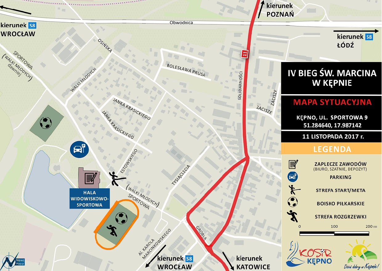 Plan sytuacyjny - IV Bieg św. Marcina