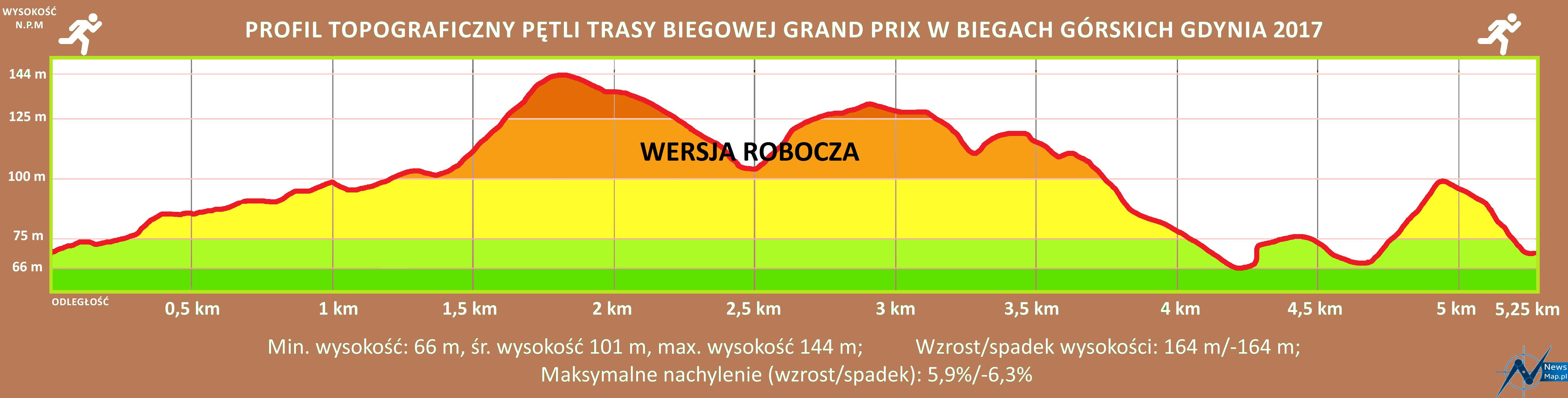 Profil topografczny GP Gdynia — wersja robocza