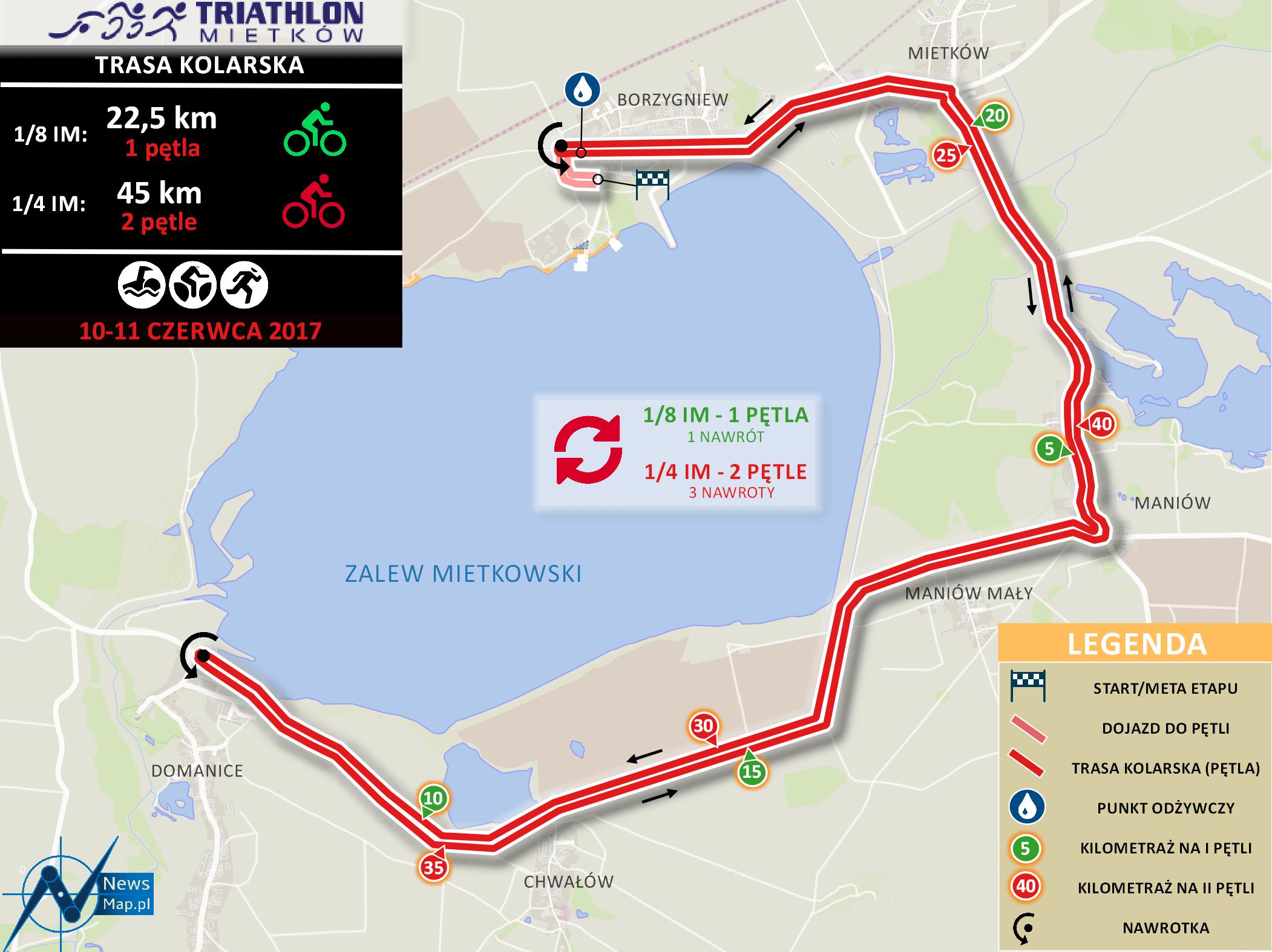 Triathlon Mietków - kolarstwo