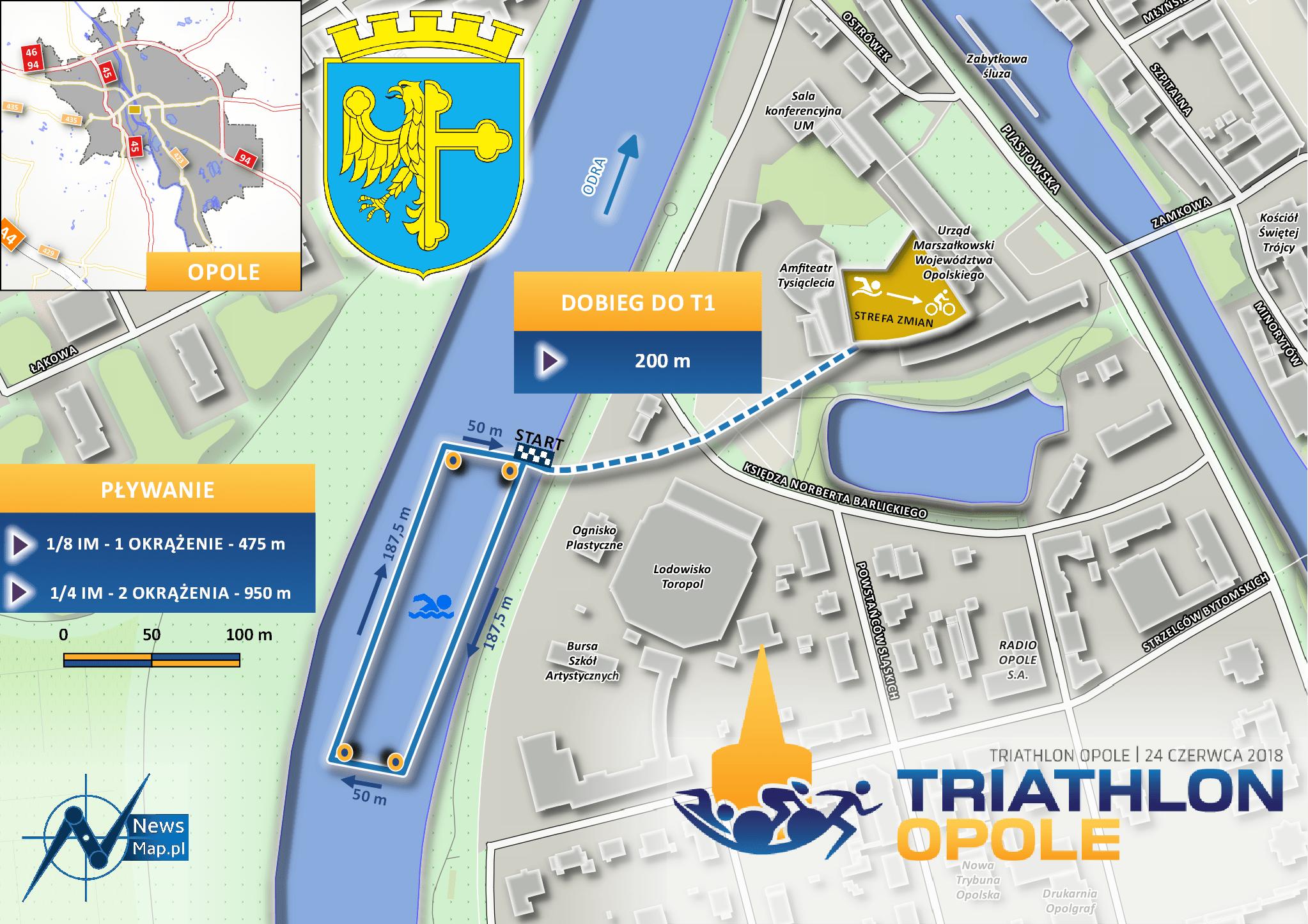 Triathlon Opole 2018 - Pływanie
