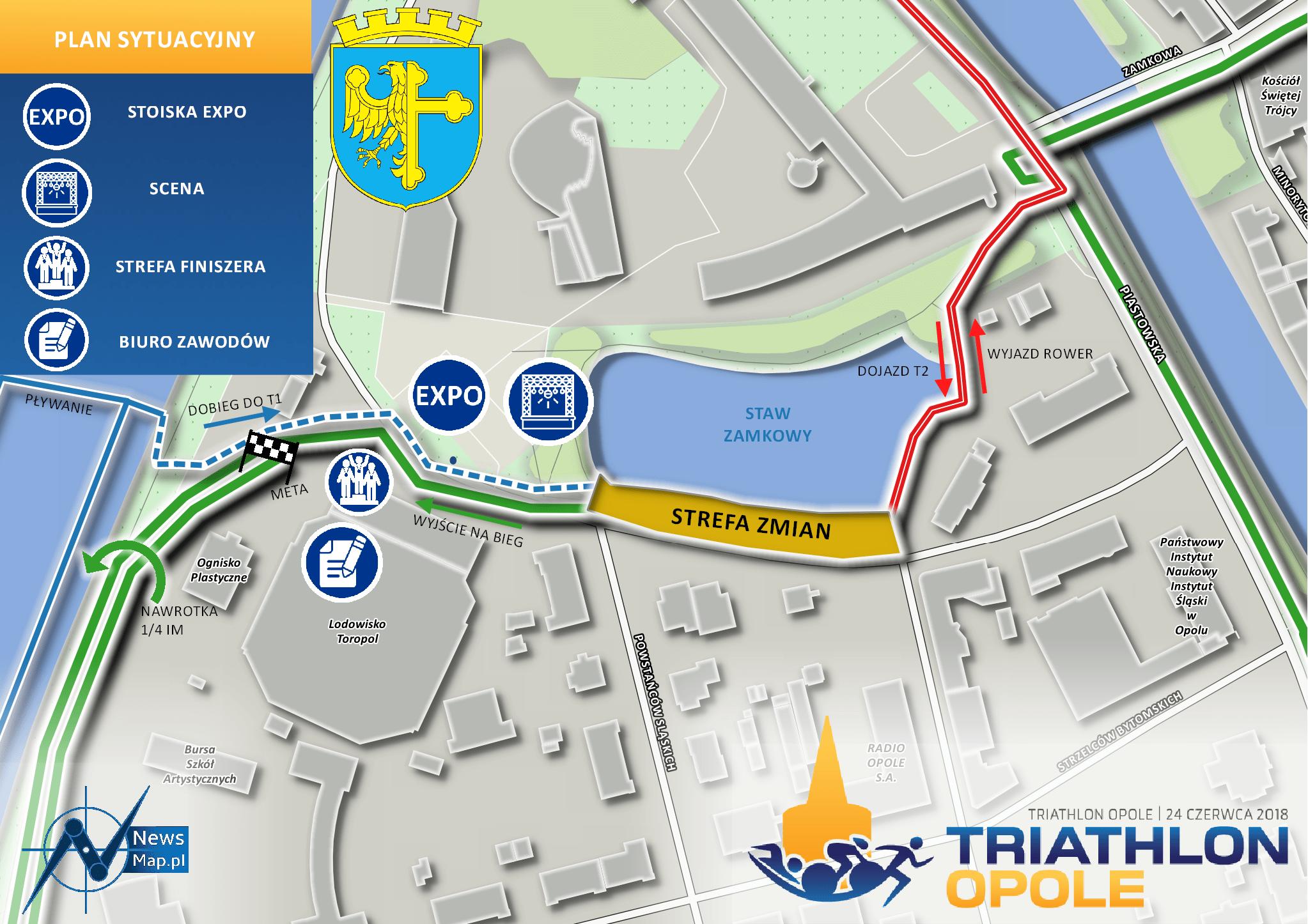 Triathlon Opole 2018 - plan sytuacyjny