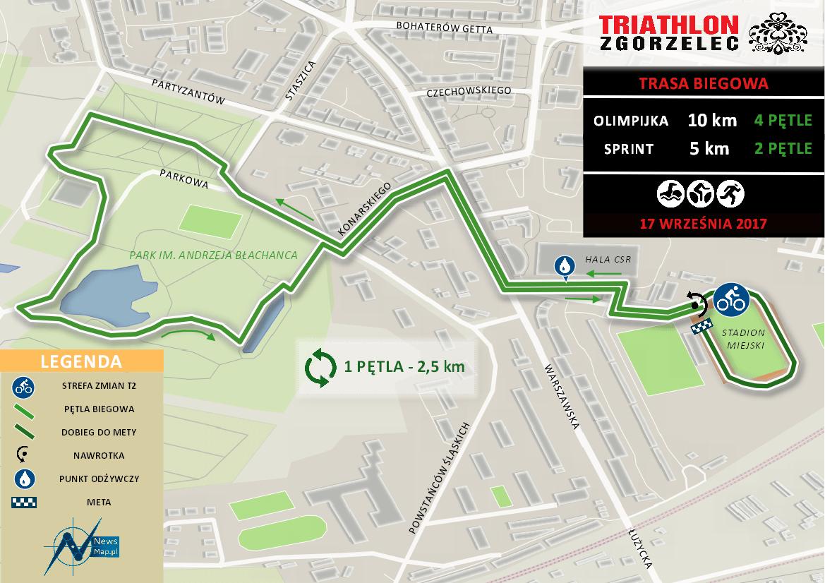 Triathlon Zgorzelec - bieg