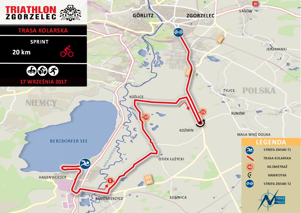 Triathlon Zgorzelec - rower sprint