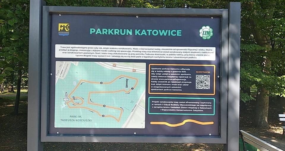 tablica parkrun Katowice