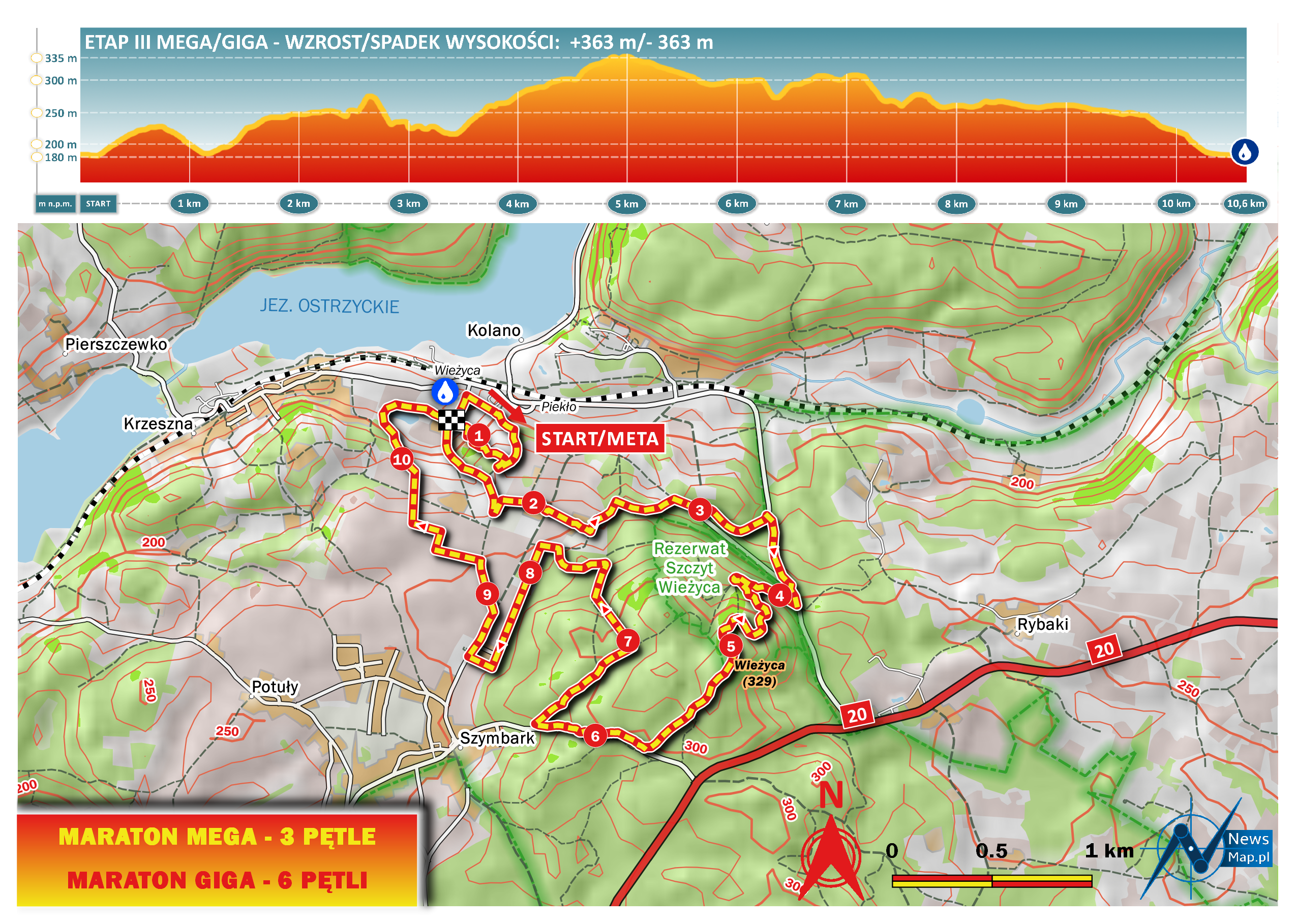 Mapa racebook III etap MTB Energy