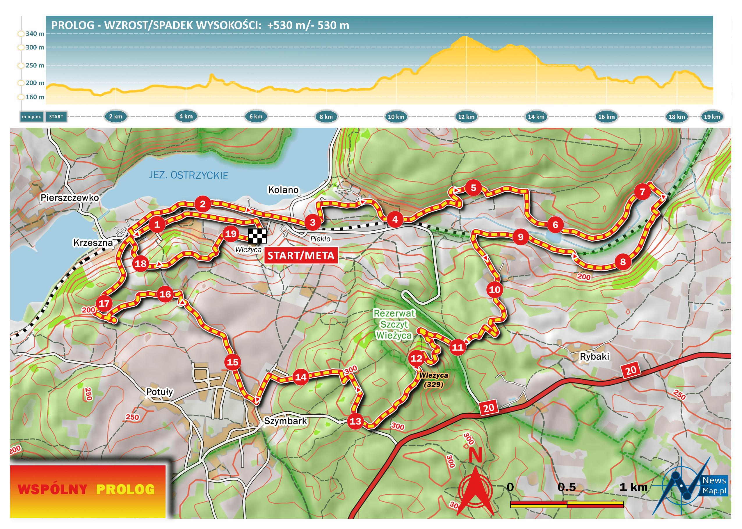 Mapa racebook Prolog MTB Energy