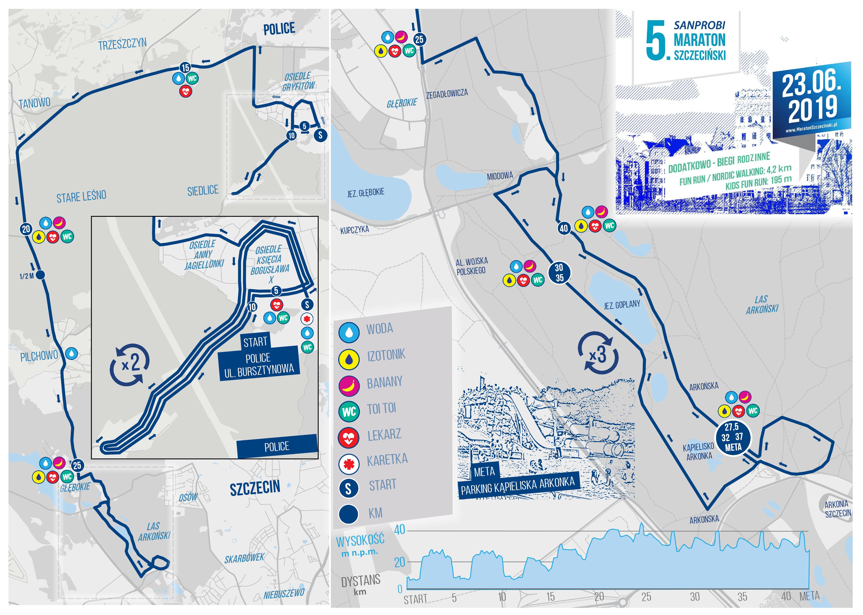 Mapa statyczna 5. Sanprobi Maraton Szczecin (on-line)