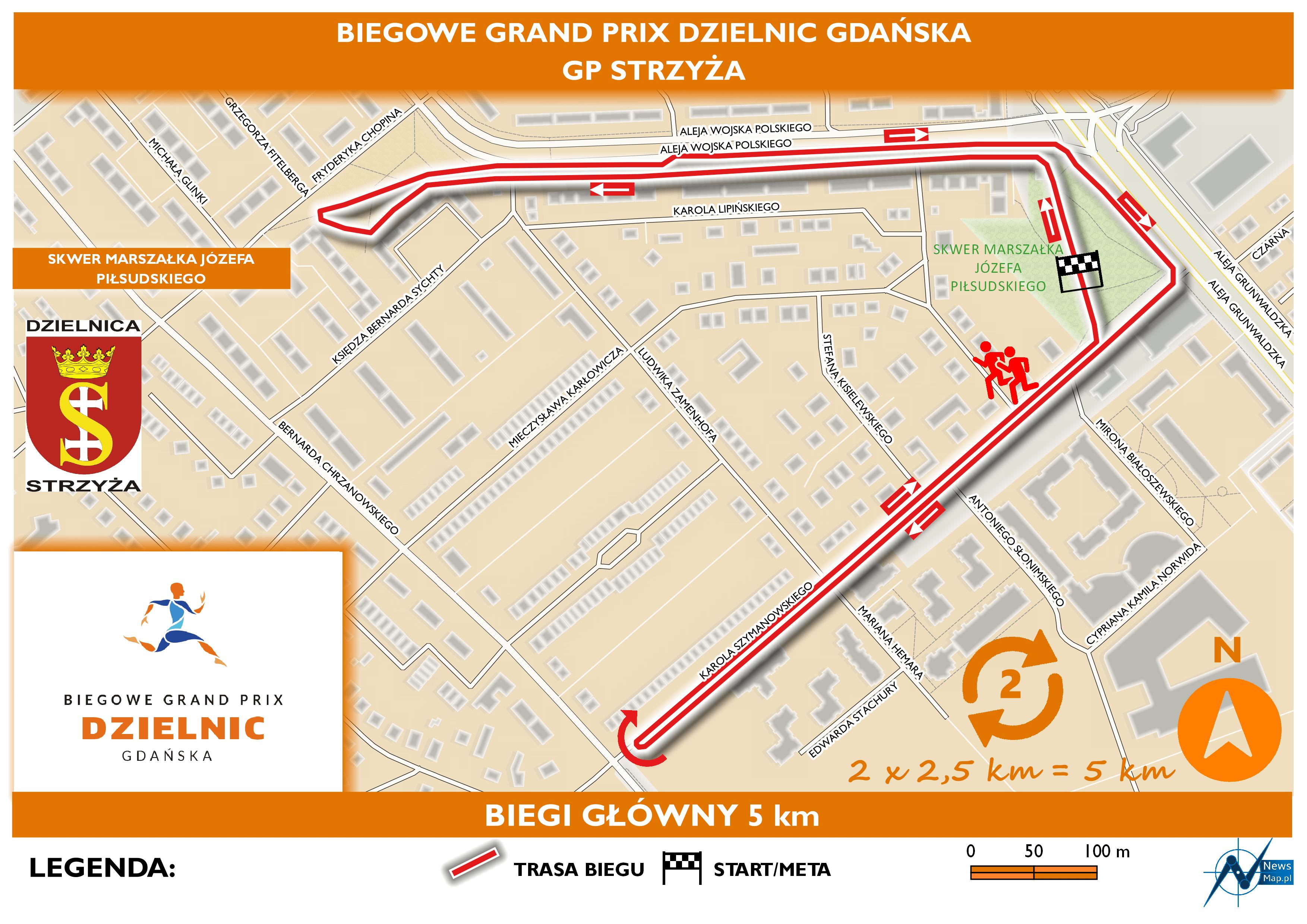 Mapa statyczna GP Strzyża - bieg główny