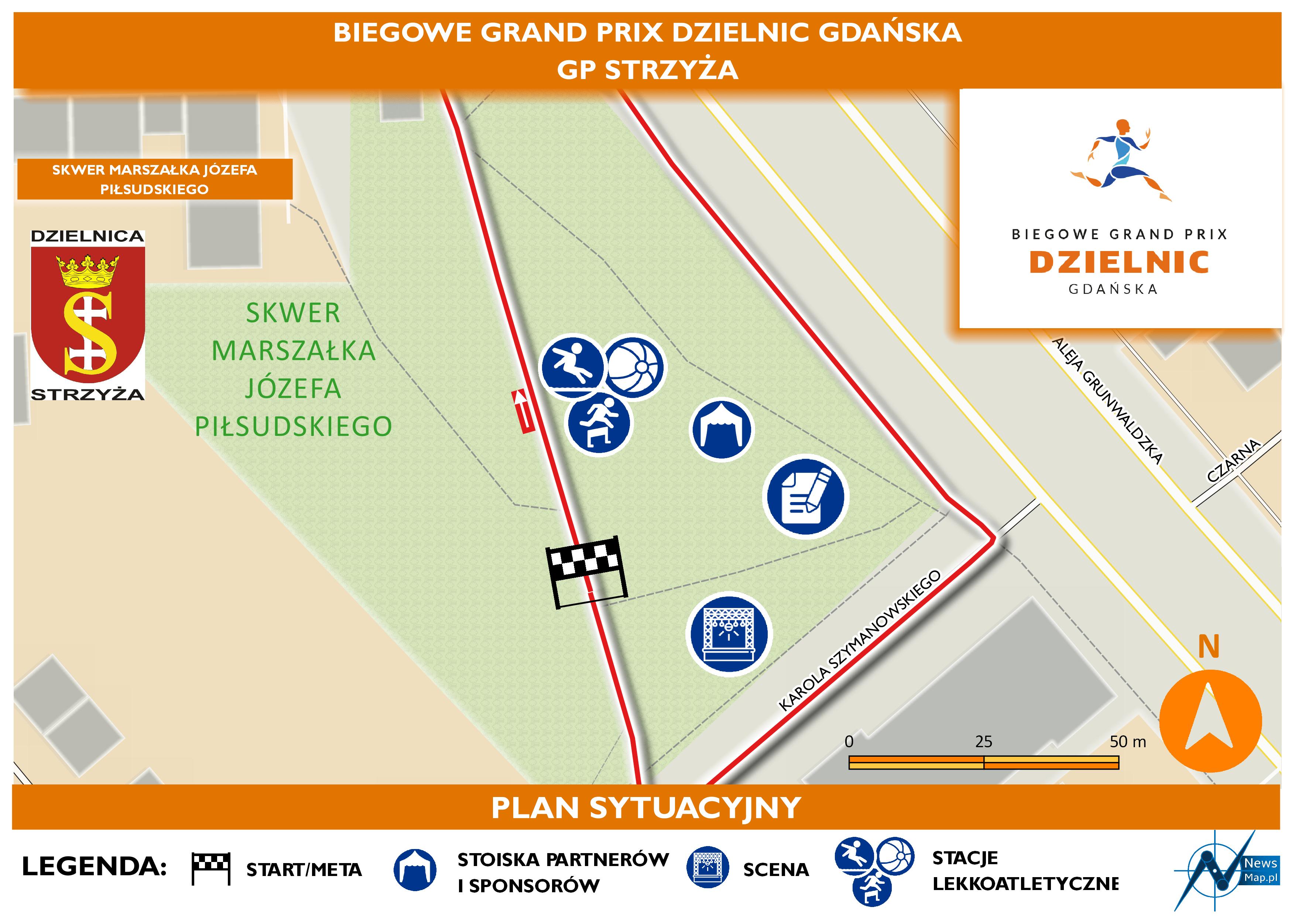 Mapa statyczna GP Strzyża - plan sytuacyjny