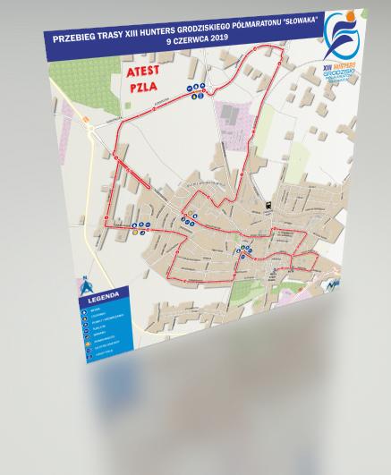 Mapa statyczna Półmaraton Słowaka 2019 3D