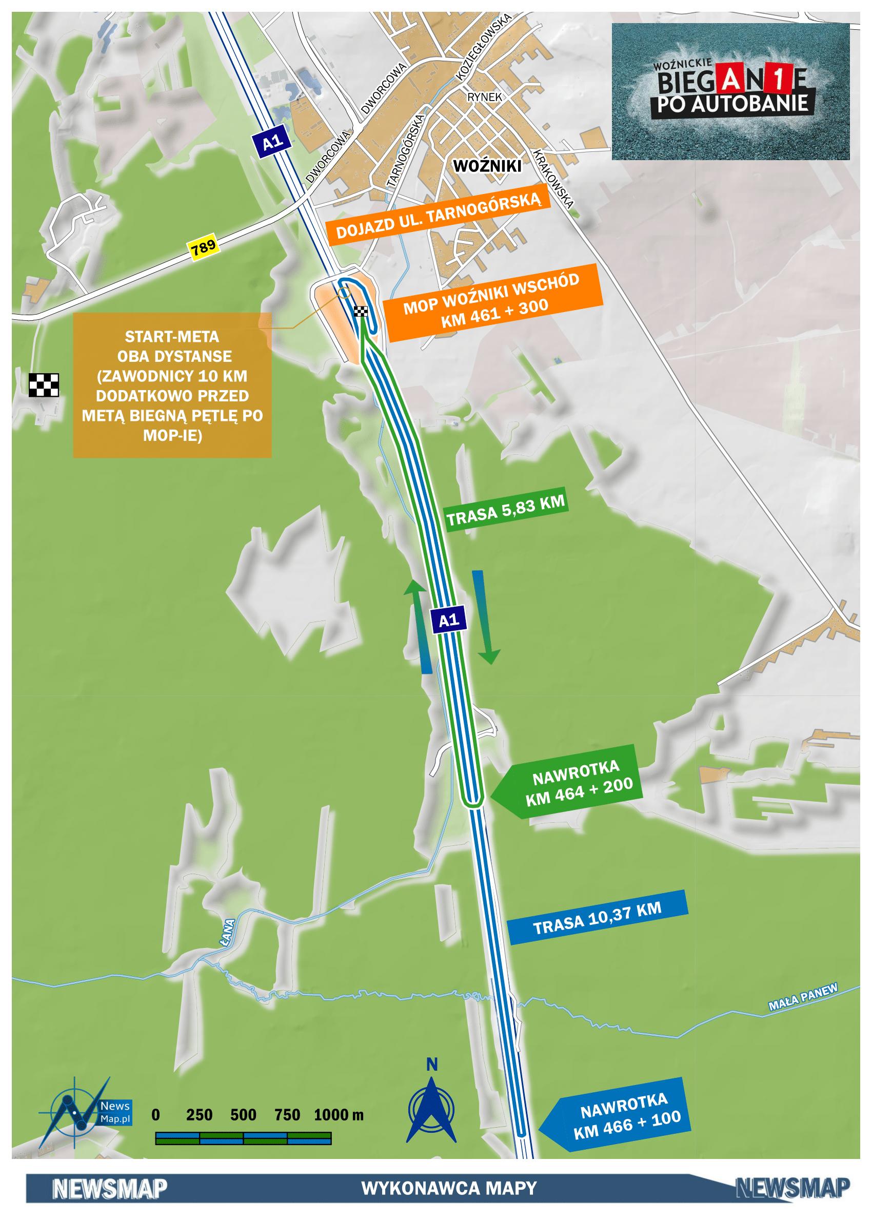 Mapa statyczna - bieg 5-10 km (wektor)-1