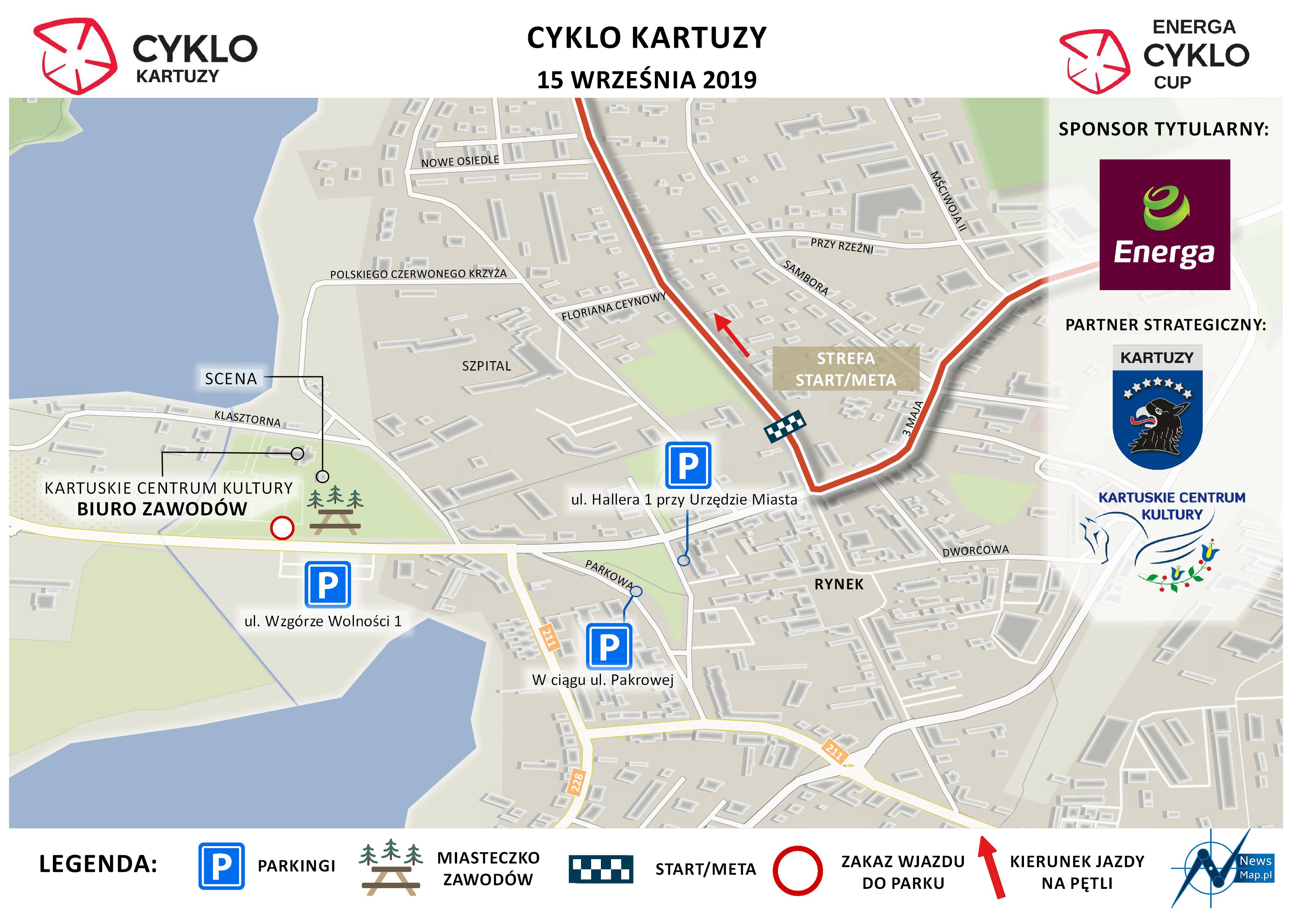 Cyklo Kartuzy 2019 - plan sytuacyjny (on-line)