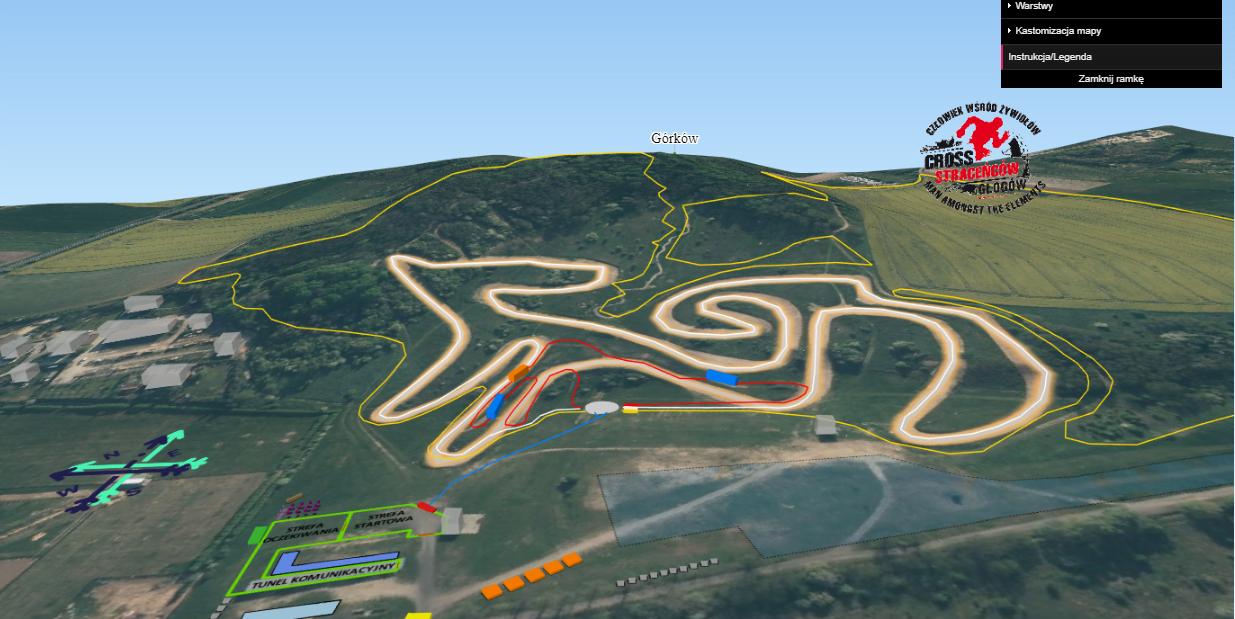 Sportowa mapa interaktywna 3D