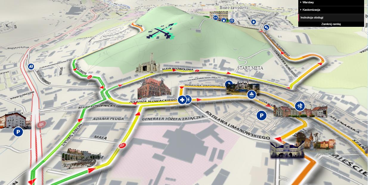 Miejska mapa interaktywna 3D